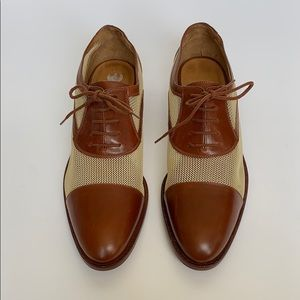 RALPH LAUREN COLLECTION Brown/Beige Oxfords